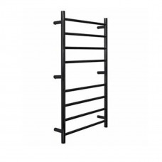 600Wx1000Hx120D 80W Black color Round Heated Towel Rail 8 Bar