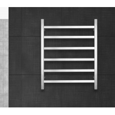 600Wx800Hx120D   6 Sqaure Bar Satin Finish Heated Towel Rail