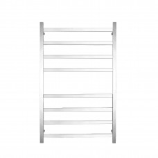 600Wx1000Hx120D  8 Square Bar Satin Finish Heated Towel Rail