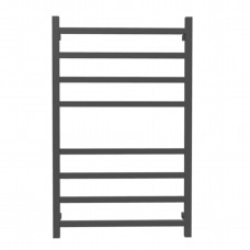 600Wx1000Hx120D  8 Square Bar Black Heated Towel Rail