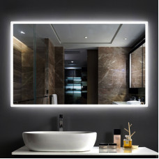 750x700mm Rectangle Shape Black Frame LED Mirror with Demister
