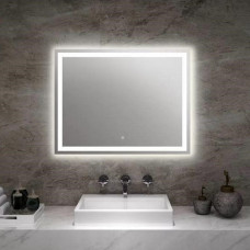 750x700mm Rectangle Shape LED Mirror with Demister