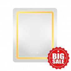 500x650x40mm Rectangle LED Mirror Touch Sensor Switch Wall Mounted Vertical or Horizontal