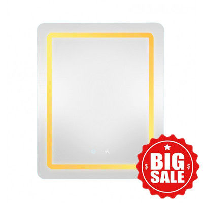 500x650x40mm Rectangle LED Mirror Touch Sensor Switch Wall Mounted Vertical or Horizontal MR-LED5065S