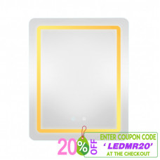 500x650x40mm Rectangle LED Mirror Touch Sensor Switch Wall Mounted Ver..