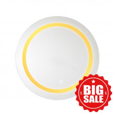 600x600x40mm Round Bathroom LED Mirror Touch Sensor Switch Wall Mounted