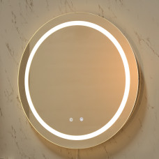 600x600x40mm Round Bathroom LED Mirror Touch Sensor Switch Wall Mounte..