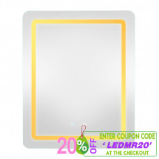 650x800x40mm Rectangle LED Mirror Touch Sensor Switch Wall Mounted Ver..