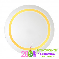 800x800x40mm Round Bathroom LED Mirror Touch Sensor Switch Wall Mounted