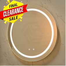 800x800x40mm Round Bathroom LED Mirror Touch Sensor Switch Wall Mounte..