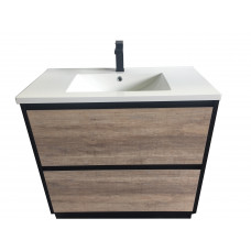 Plywood 900 White Gloss Vanity Floor Standing With Ceramic Top