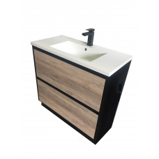 885x450x830mm Plywood 900 White Oak Vanity Floor Standing With Ceramic..