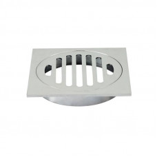 Square Chrome Brass Floor Waste Drain Shower Grate 110*110mm