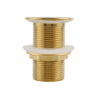 32/40mm Brushed Yellow Gold Solid Brass Basin P..