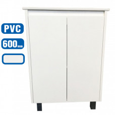 600x360x875mm Freestanding White PVC Vanity Units Cabinet Single Ceram..