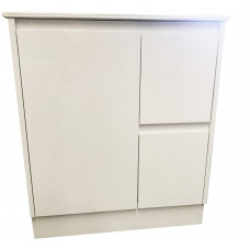 750x460x875mm White PVC Vanity Units Without Handles Cabinet Single Ce..