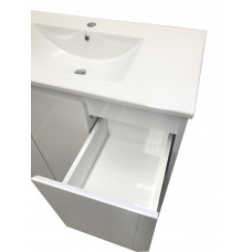 900mm White PVC Vanity Units Without Handles Cabinet Single Ceramic Ba..