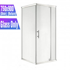 750*900*1900mm Swing Shower Glass Door and Return Only