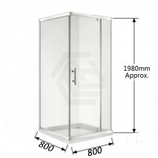800*800*1900mm Swing door Square Shower Box