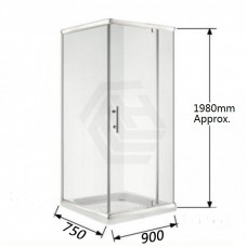 900*750*1900mm Swing door Square Shower Box