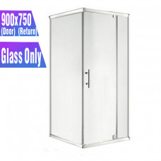 900*750*1900mm Swing Shower Glass Door and Return Only