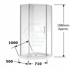 1000*1000*1900mm Swing Door Diamond Shower Box