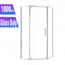 1000*1000*1900mm Diamond Shower Glass Door and Return Only