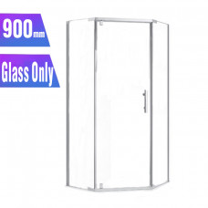 900*900*1900mm Diamond Swing Shower Glass Door and Return Only