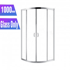 1000*1000*1900mm Round Sliding Shower Glass Door and Return Only