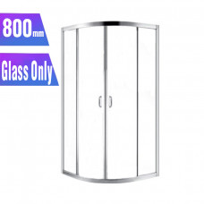 800*800*1900mm Round Sliding Shower Glass Door and Return Only