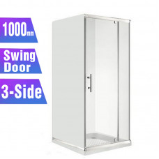1000*1000*1000mm 3-Side Swing door Square Shower Box