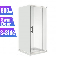 800*800*800mm 3-Side Swing door Square Shower Box