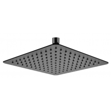250mm 10 inch Stainless steel Super-slim Square Nero Black Rainfall Sh..