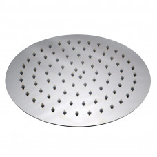 "250mm 10"" Stainless steel Super-slim Round Chrome Rainfall Shower.."