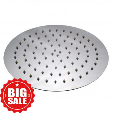 250mm 10 inch Stainless steel Super-slim Round Chrome Rainfall Shower Head
