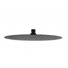 "300mm 12"" Stainless steel Super-slim Round Nero Black Rainfall Shower Head"
