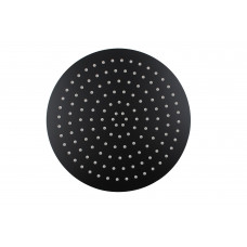 300mm 12 inch Stainless steel Super-slim Round Nero Black Rainfall Sho..