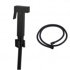Brass Square Black Toilet Bidet Spray Kit with 1.2m PVC Hose