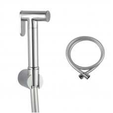 Round Chrome Brass Toilet Bidet Spray Kit with 1.2m PVC Water Hose