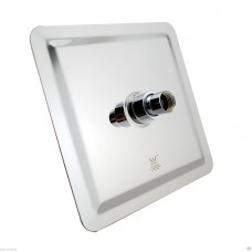 "250mm 10"" Stainless steel Chrome Super-slim Square Rainfall Showe.."
