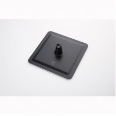 200mm 8 inch Stainless steel Super-slim Square Nero Black Rainfall Sho..