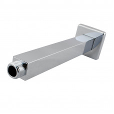 Square Chrome Ceiling Mounted Shower Arm 200mm
