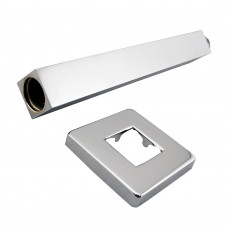 Square Chrome Ceiling Shower Arm 400mm