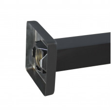 Square Nero Black Wall Mounted Shower Arm 400mm