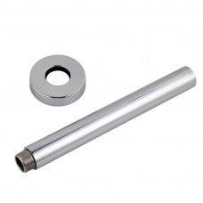 Round Chrome Ceiling Shower Arm 300mm