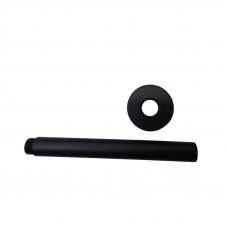 Round Nero Black Ceiling Shower Arm 300mm