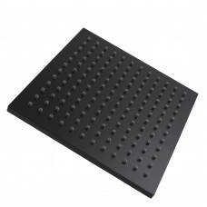 "200mm 8"" ABS Square Nero Black Rainfall Shower Head"