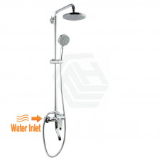 Round Twin Shower Set with ABS Top Shower Head Bottom Inlet
