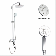 Round Chrome Shower Station Set Bottom Inlet