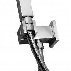 Square Chrome Hand held Shower Head Set